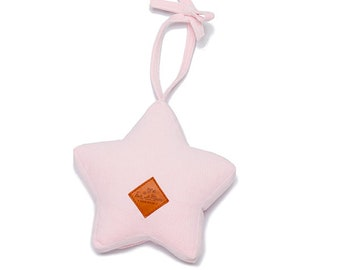 Star Rattle - soft rattle, star rattle, soft toy, rattle for a child - Pink