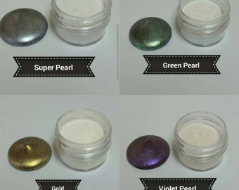 Pearl Dust - Super Pearl, Green Pearl, Gold, Violet Pearl