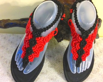 Macramé Sandals Size 8