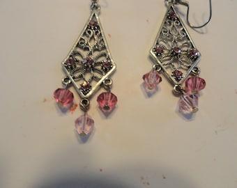 Pink Chandler Earrings