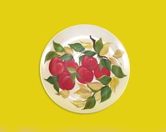 Gibson Original Hand-Painted Fruit Plate