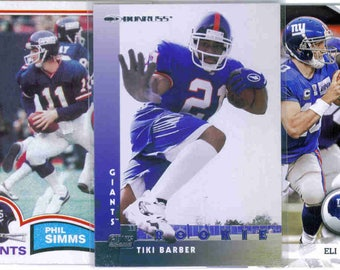 NEW YORK GIANTS Football Team Lot - 200 Assorted Cards