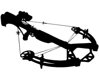 Crossbow Hunting Vinyl Decal, Crossbow Hunter , Bowhunter