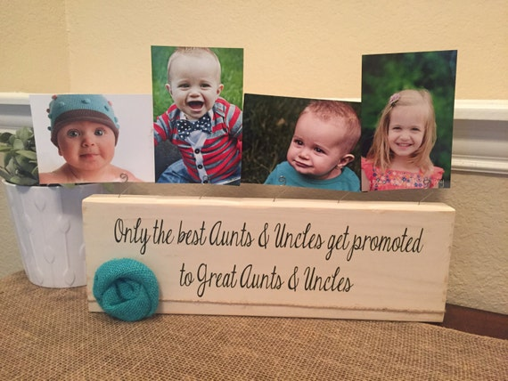 Great Aunt & Uncle frame gift Personalized picture frame board aunt ...