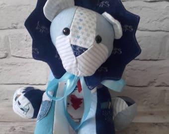 Memory Keepsake Lion - Baby Clothes, School Uniform, Sports Kit, Christmas Gift, cherished clothing. lion, lion keepsake, memory lion