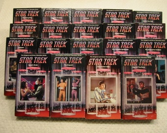 """vintage  lot of 49  original series """"Star Trek""""  VHS tapes from the 1960's . . .  excellent condition . . . .FREE SHIPPING"""