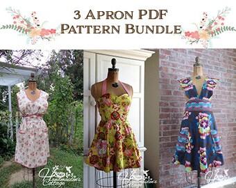 Bundle and Save! 3 Apron PDF Sewing Patterns