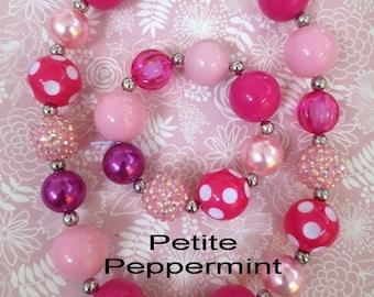 Pink Girl Necklace,Little Girl Bubblegum Necklace,Children Necklace,Girl Chunky Necklace,Bubblegum Necklace,toddler girl necklace