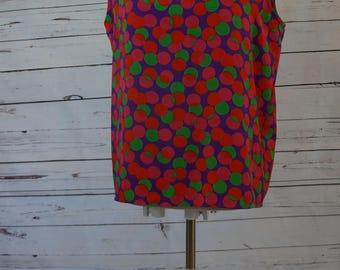 Colorful Polka Dot Blouse