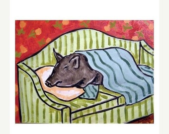 Pig Sleeping on a Couch Art Print