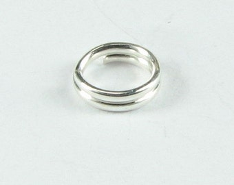 5mm Sterling Silver Split Rings, Jewelry Making Supplies, Beading Findings, Splitrings 925 SS (10 pieces)