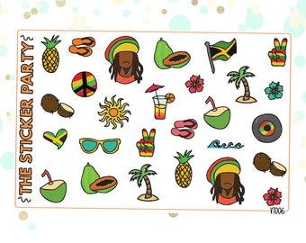 Jamaica Planner Stickers