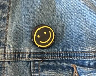 "2.25"" Sherlock Smiley Face Pin-Back Button"
