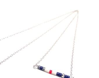 minimalist necklace simple necklace bead delicate necklace dainty necklace minimalist jewelry
