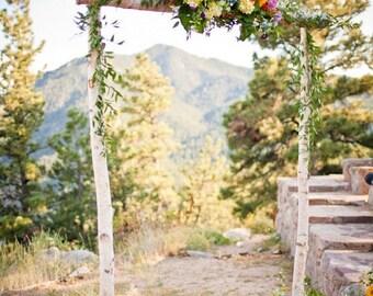 Wedding arch etsy 3 piece birch wedding archarbor only junglespirit Images