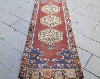 Oushak runner rug runner rug vintage runner rug turkish runner rug are rug bohemian rug hand made rug anatolian rug rug 2.5x9.feet 80x280 cm