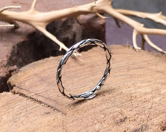 Sterling Silver Ring, Gift for her, Stackable Rings, Gift for him, Ring for woman, Ring for man, Oxidized silver ring