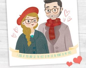 Couple portrait • St. Valentine's Gift-Valentine's Day