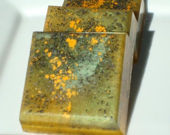 Halloween Soap - Monster Skin Soap - Science Fiction Horror Soap - Green Poppy Seed Soap, Unisex Soap, Homemade Soap, Bar Soap - 1/4 lb Soap