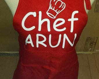 Children's printed aprons Personalised apron, little chef apron.