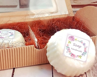 Natural laundry soap bar Set of 2 soaps in package Homemade Vegan stain stick eco soap in box