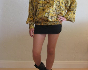 Black & Gold Luxe Print Tunic