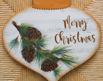 Decorative Painting Pattern Packet - Pinecone Christmas