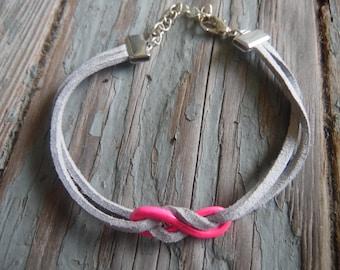 Gray Leather Bracelet