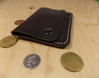 Coin wallet, One pocket wallet, Mini wallet for coins, Simple wallet, Pocket wallet, Leather minimalist wallet, Coins only, Leather wallet