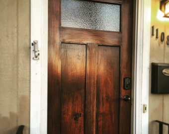 Solid Dark Walnut front entry door