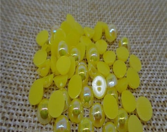 100 half shiny yellow Pearl Pearl 6 mm paste new