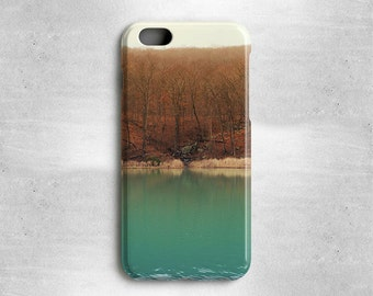 iPhone 8 Autumn Case Trees and Lake - Available for iPhone X, iPhone 6, iPhone 5s/5, iPhone 5c, iPhone 4s/4, and more