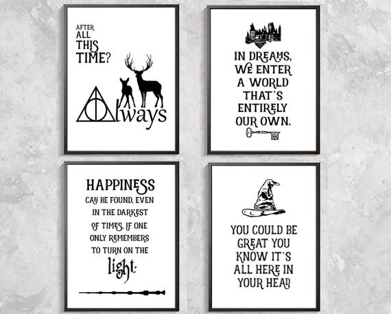 harry potter quotes print harry potter poster sorting hat. Black Bedroom Furniture Sets. Home Design Ideas