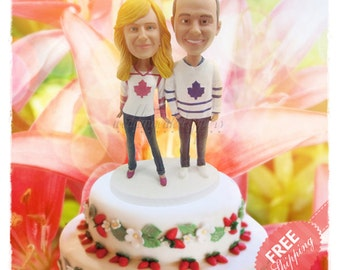 Cake toppers canada Personalised cake topper Unique wedding cake toppers Hockey cake toppers Bride and groom cake toppers Sport cake toppers