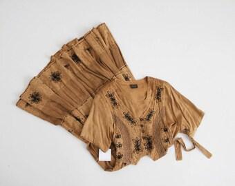 indian gauze dress   90s dress   ethnic dress