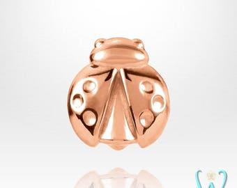 14K Tiny Ladybug - Stud Earring - Flat Back Earring - Cartilage Earring