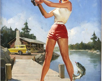 Plenty of Fish, Pin Up Girls Fishing Collection, Digital download