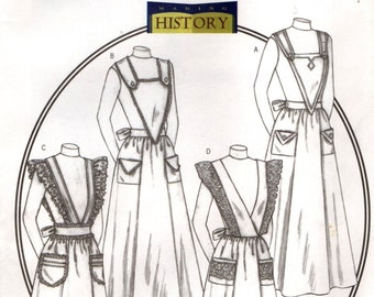 Butterick 4042 Making History APRONS Turn of Century Servant ©2003