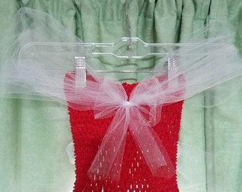 Girl's Tulle Dress Red & White