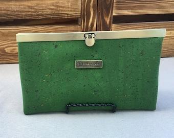 Emerald Cork Slim Line Wallet