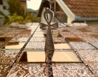 Egyptian Ankh Cross Necklace keychain,Egyptian Hieroglyph mythology,Key of Life charm,Egypt Pharoah Necklace keychain,Bird Hieroglyph