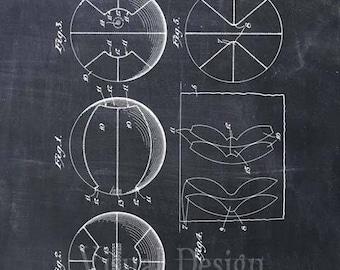 Basketball Patent Print Basketball Art Print