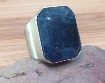Agate Ring Artist's Ring Statement Ring Agate Ring Large Ring Boho Ring Size 8 Ring