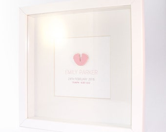 Baby Girl Personalised Framed Print