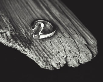 Minimal Organic Silver Ring SERIFOS 07