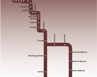 Chicago Brown Line Map