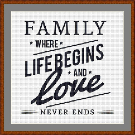 Family Cross Stitch Pattern /Digital PDF Files /Instant downloadable
