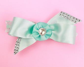 Turquoise Bow Headband, Baby Headband, Newborn Headband, Girl Headband, Infant Headband, Toddler Headband
