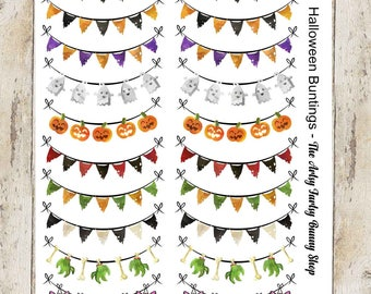 Halloween Buntings | Banners | Planner Stickers | Halloween Stickers