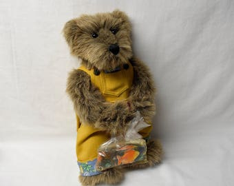 Bartholomew Teddy Bear Gallery of Teddy Bears Ashton Drake Collectible Plush Bear with Goldfish Stuffed Animal
